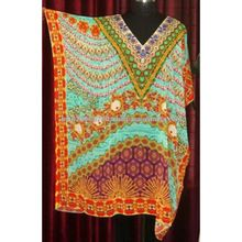 Women Beachwear Printed Kaftan