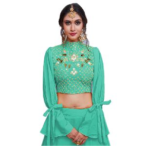 Crepe Party Wear Fancy Lehnga Choli With Soft Net Dupatta