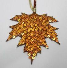 Decorative Christmas Leaf Shape Hangings