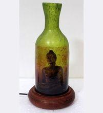 Printed Antique Glass Night Lamp Flower Vase