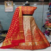 Designer Bridal Party Wear Silk Lehenga