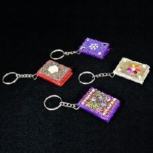 Notebook Glitter Key Ring