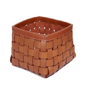 Soft Bread Basket Made With Leather
