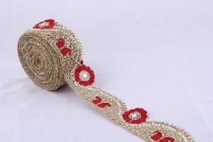 Diamond Jhalar Work Lace