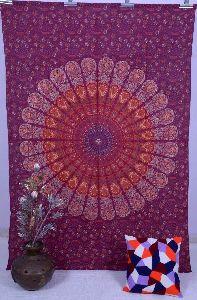 Handmade Cotton Mandala Bohemian Bedspread