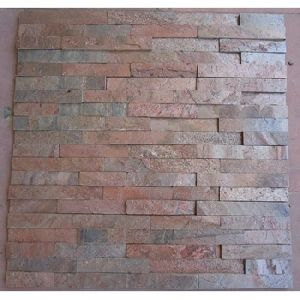 Copper Slate Stone Wall Panel Tile Red Mica