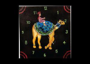 Handpainted Wooden Clock