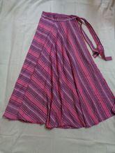 Cotton Stripes Long Skirt