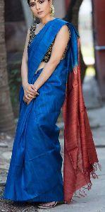 Ghicha Tassar Silk Dyed Saree