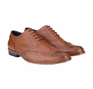 Bxxy Tan Color Genuine Leather Brogue Style Shoes
