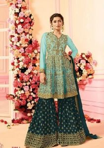 Bollywood Style Dramatic Color Sarara Suit