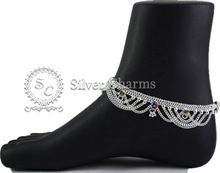 Silver Loose Frill Anklet