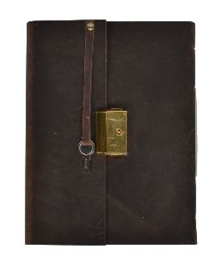 Vintage Handmade Genuine Leather Journal New Clasp Brass Lock Journal Diary