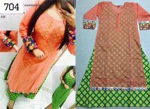 Designer New Selfi Chanderi Silk Kurti