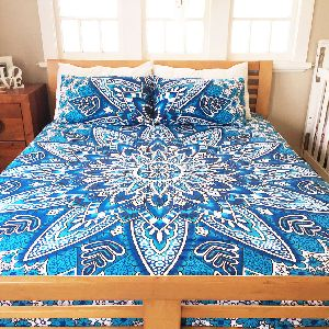 Double Size Bed Cover Handmade Bed Sheet