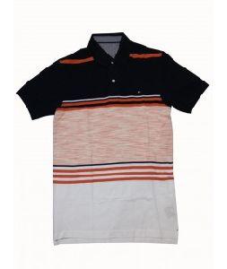 Mens Orange Striped T-shirts