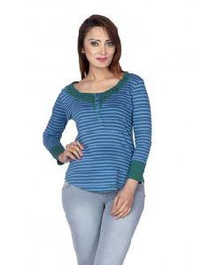 Women Striped Lace Top