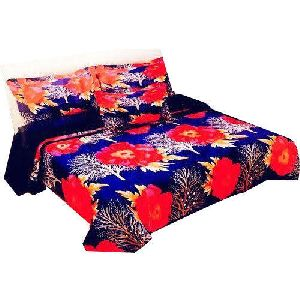 3d Floral Print Designer Bed Sheet