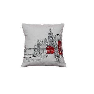 London Landmarks Printed Stitch Cushion Cover