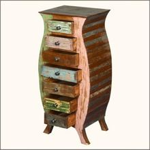 Vintage Wooden 5 Drawer Chest