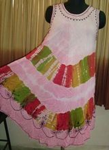 Tie Dye Rayon Beach Umbrella Dress
