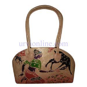 Printed Ladies Leather Bag
