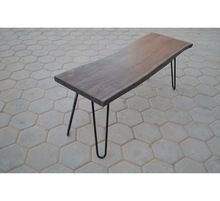 Wood Iron Composite Garden Park Bench
