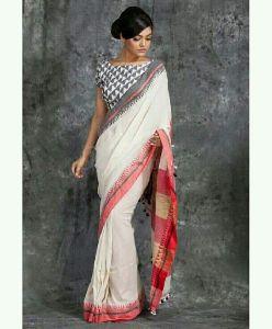 Embroidered Soft Cotton Silk Saree