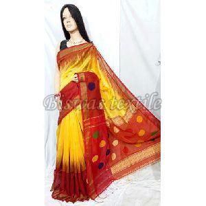 Border Designed Fancy Cotton Silk Handloom Saree