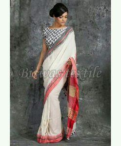 Embroidered Soft Cotton Silk Saree