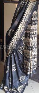 Printed Tassar Silk Saree