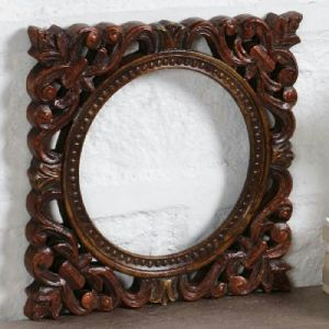 wooden hand carved photo frame