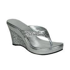 Party Wear Wedge Heel Slippers
