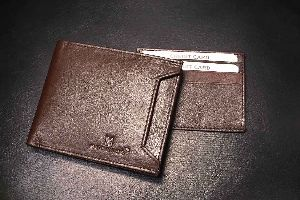 Leather Wallet Brown Detachable Card Holder