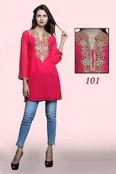 Georgette Beaded Short Kurtis For Ladies