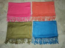 100% Viscose Solid Color Pashmina Shawls