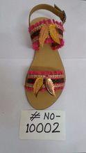 Fashion Wear Pompom Work Slippers