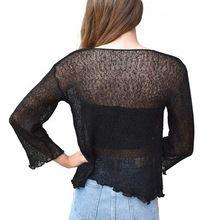 Women Weave Knit Shrug