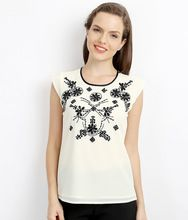 Womenswear Fashion Embellished Shell Top