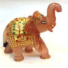 Gemstone Elephant Figurine Statue