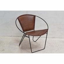 Leather Iron High Quality Dining Chair
