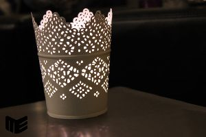 Etched Metal Candle Holder