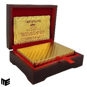 Gold Foil Playing Card Holder