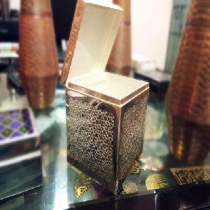 Silver Plated Metal Storage Box