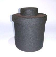 Rough Matte Black Candle Jar