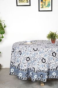 Olivia Black Round Table Cover