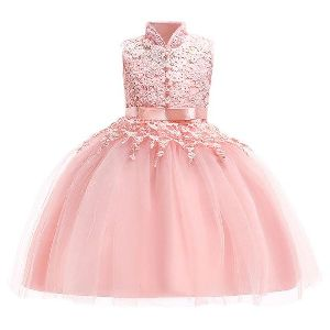 Embroidered Girls Gown