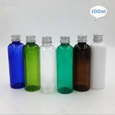 PET bottle with plastic caps