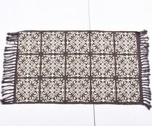 Foil Printed Woven Cotton Rug