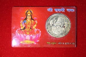 Laxmi Silver Coin Card
